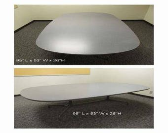"""Herman Miller Eames """"Racetrack"""" Conference Dining Table"""