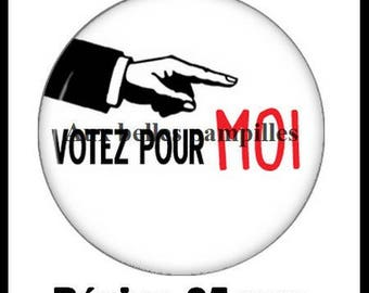 Round cabochon resin 25 mm - paste vote for me (1991) - Election, president