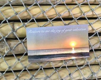 Sunrise magnet Restore to me the joy of your salvation.