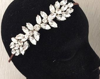Bridal headpiece - crystal bridal headpiece - Tiara -  wedding headdress -  vintage inspired - Tiara - bridal headband -  wedding headband