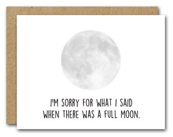 Printable Sorry Card, Funny Sorry Card, INSTANT DOWNLOAD, Sorry For What I Said, Funny Apology, Friendship Card, Husband, Boyfriend