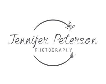 Photography logo  - Watermark logo design - Logo template - bee logo design DIY psd logo calligraphy font included