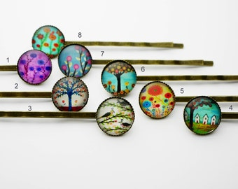 Modern cabochon hair pin
