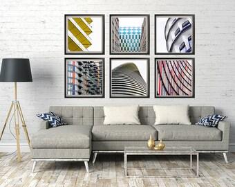 London architecture photography, minimalist photography, architecture art print, London art print, - The Geometry of London