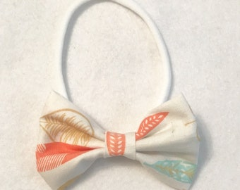 Pastel feather bow