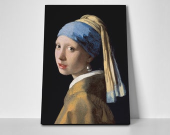 Girl Pearl Earring Poster or Canvas