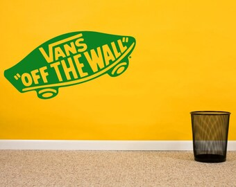 Vans Vinyl Wall Decal Sticker, Vans Sneaker Wall Art, Wall Art Sticker, Vans Shoe Vinyl Wall Decal, Home & Living, Gifts For Christmas