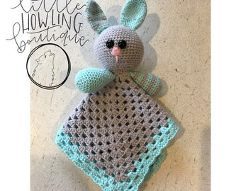 Baby bunny security blanket