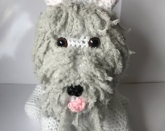 Large Westie crochet dog