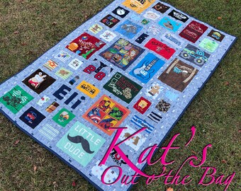 MEMORY QUILT | Baby Clothes Quilt | First Year Clothes Quilt | Keepsake Quilt | Custom Made-to-Order