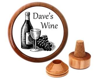 Personalized Wine Stopper. Gift for boyfriend. Cool gifts for men. Birthday gift ideas for men. Birthday Present for men.
