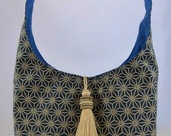 Blue tassel bag