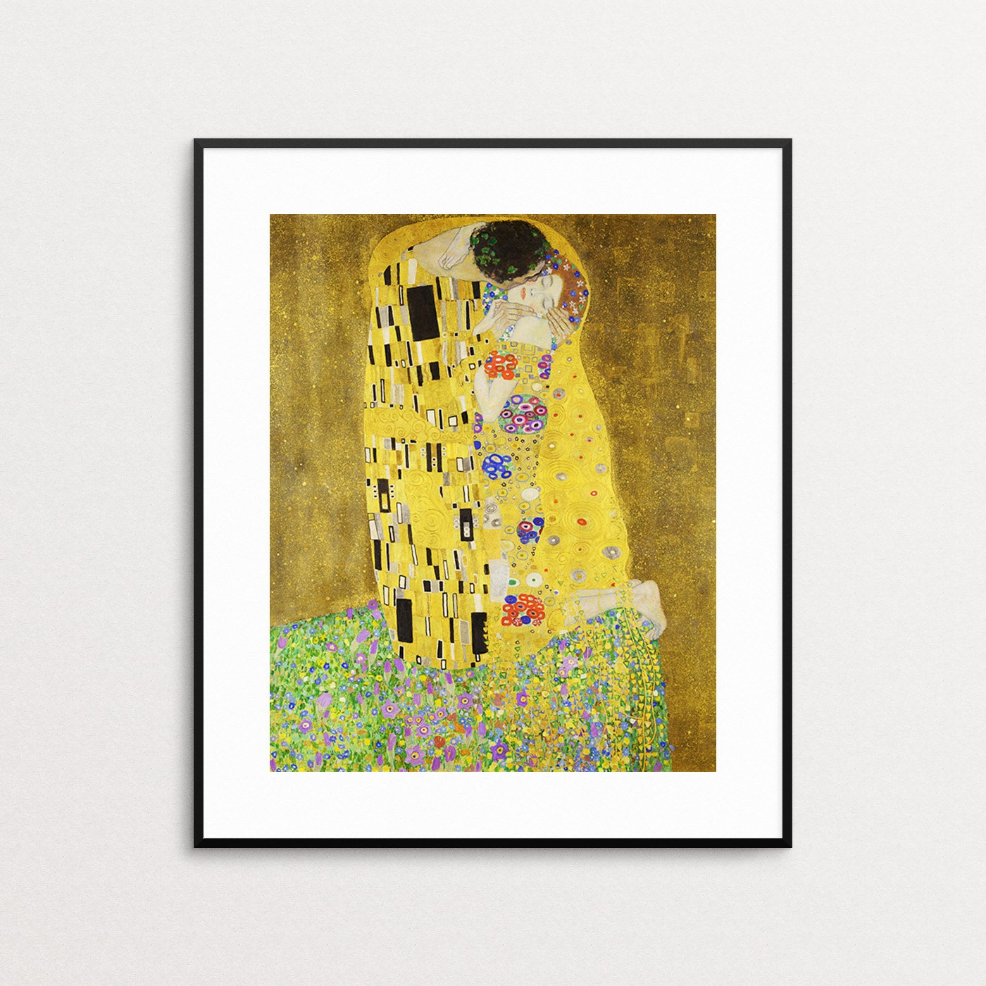 Gustav Klimt The Kiss Art Nouveau Print Lovers Couple