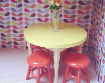 Wooden table - yellow