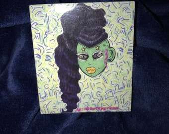 Alien sticker (with transparent background)