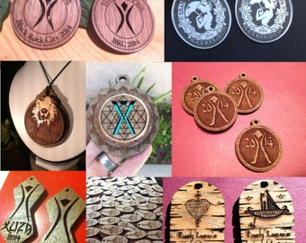 Playa Gift / Festival gifting swag / Event giveaways / Theme camp pendants /