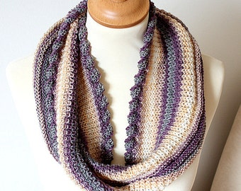 Knitting Pattern  Cowl  Moebius- Twisted Garter Edge  (pdf file)
