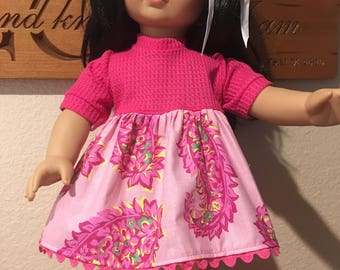 "18"" Doll dress and bonus matching pants"