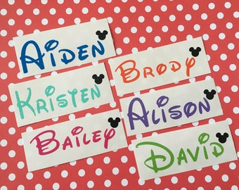 Disney Name Decal - Name Decal - Disney Name Sticker - Yeti Decal - Yeti Decal for Women - Laptop Decal - Water Bottle Decal - Car Decal
