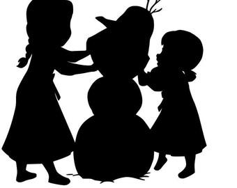 Frozen svg. Anna Elsa and Olaf, disney svg, frozen svg, olaf svg, princess svg,