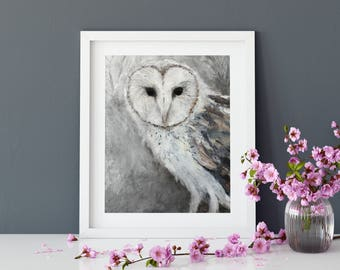 Barn Owl - archival print of my original painting