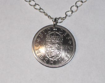 British English Arms antique coin necklace-free shipping