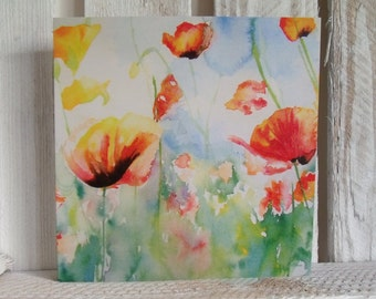 Poppy Greeting Card - Blank - Floral- Flower - Any Occasion