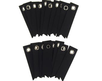 Chalkboard Paper Pennant Tags, 2-Inch, 20-Count