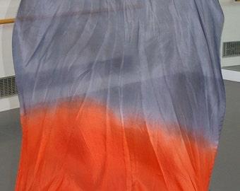 Fan Veil SET (2 FANS): Color-Tulip Series- Silver/Vermillion