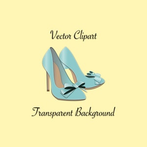 Blue High Heels Clip Art - Sexy High Heels Graphic, Shoe Clip Art, Blue