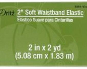 "2"" inch Soft Waistband Elastic - Dritz - violet"