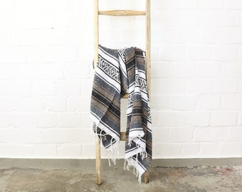 Solidly woven Navajo blanket from Mexico Sarape 180 x 70 cm light brown