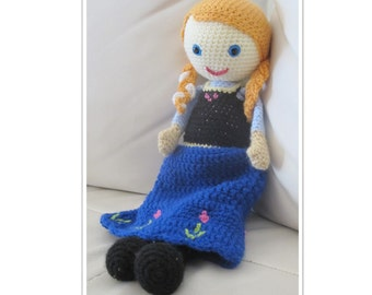 Anna Frozen  - Crochet doll pattern - Amigurumi pattern
