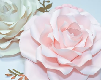 Peony paper flower template pdf and svg 2 sizes paper flower template pdf and svg anna rose 10 12 inch flower mightylinksfo