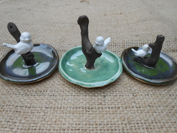 Large Birdie Ceramic Ring Dishes