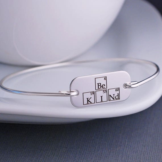 Be kind periodic table elements bangle bracelet science urtaz Image collections