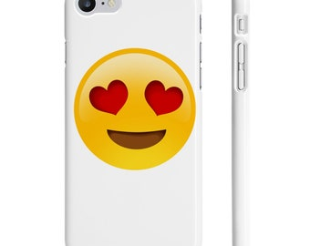 Heart Eye Emoji Slim Phone Cases