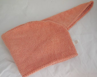 Coral Hair Towel Wrap Extra Long to fit all hair lengths