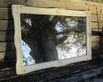 High Quality Shabby Chic Mirror, Reclaimed Medicine Cabinet Mirror, White Mirror, Vintage  Mirror, Mirror