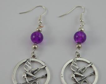Earrings violet Hunger Games
