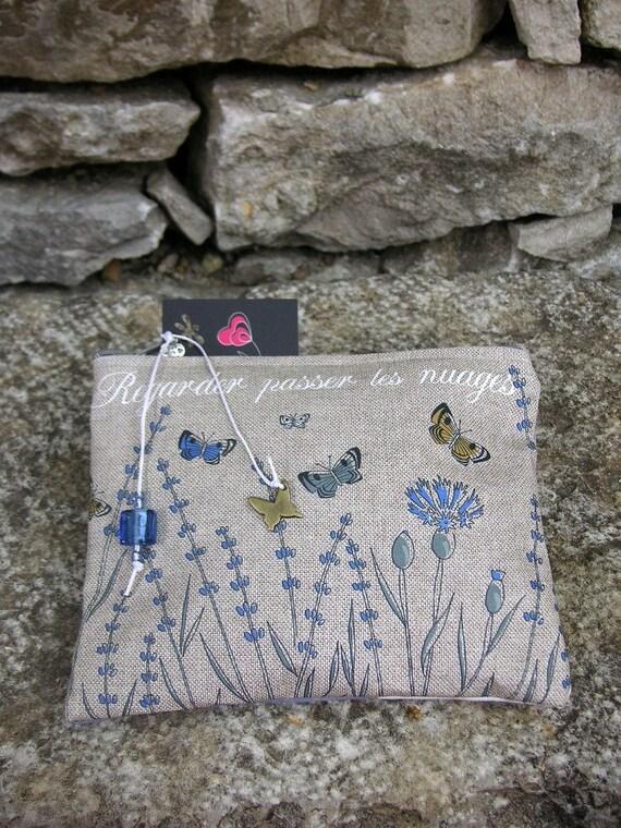 Naturel linen dress handkerchief 'Watching clouds pass'