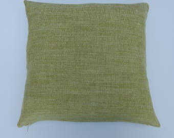 18 x18 velour ,green square pillow cover.