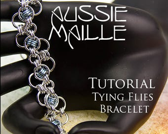 Chain Maille  Tutorial - Tying Flies Bracelet