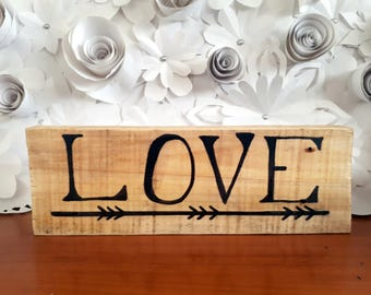 LOVE  home decor wooden sign