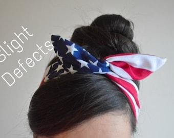 American flag Dolly bow head bands, American Flag head band, hair bow