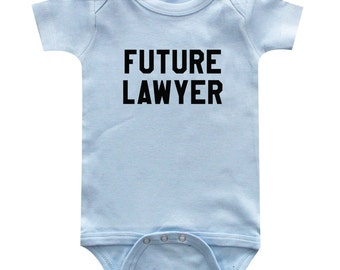 Future Lawyer Baby Clothes, Bodysuit, Baby Shower Gift, Funny Baby Clothes, Baby Boy, Baby Girl, Baby Lawyer #38