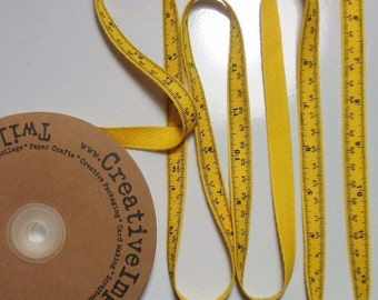 Tape Measure Twill Yellow 25 Yard Spool Ribbon Creative Impressions