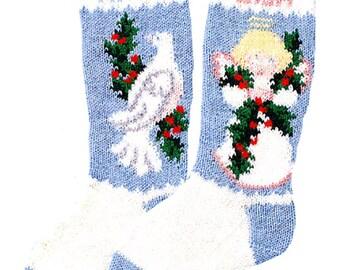 Custom Christmas Dove Stocking