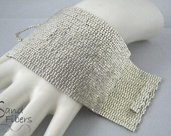 Wide Argenta Peyote Cuff (3305) - A Sand Fibers Made-to-Order Creation
