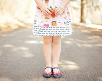 Cotton Circle Skirt | Let's Eat Cake in size 4-5t | Infant, Toddler, Girls sizes available